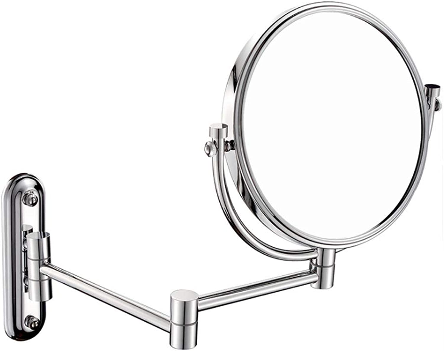 10x   1x Bathroom Magnifying Glass Double-Sided 8 Inch Makeup Mirror 360° redatable Folding Vanity Mirror Chrome Finished,5X