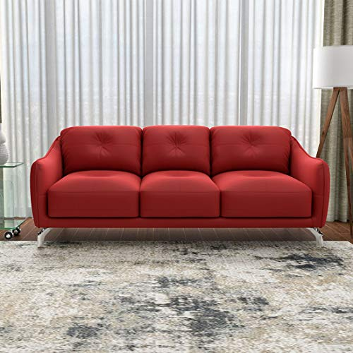 Durian Skyler Three Seater Leather Sofa (Red)