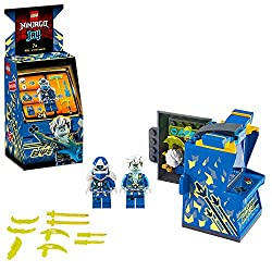 Features new-for-January 2020 buildable minifigures and an opening arcade pod with storage for ninja figures, their weapons and accessories Includes 2 minifigures: Digi Jay and the exclusive to this playset Avatar Jay with guitar, who can be armed wi...