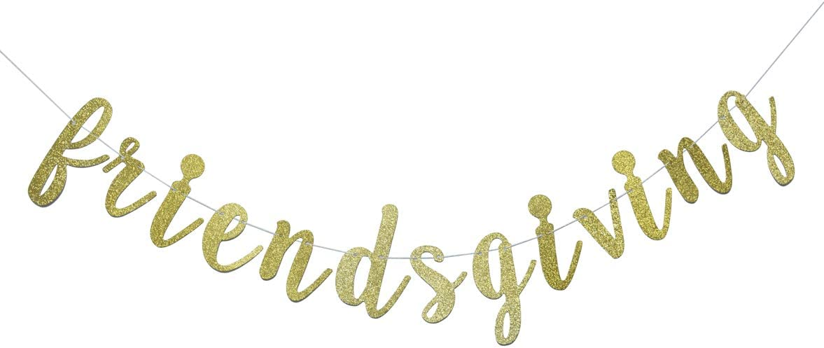 Friendsgiving Banner for Thanksgiving Day Friends Party Decorati