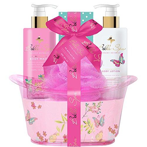 Gloss! Retro Baignoire de Bain Rose, Coffret Cadeau-Coffret de bain