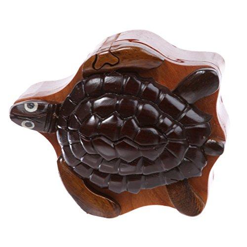 Schmuckkästchen aus Holz, Tierform, handgefertigt, Schildkröte
