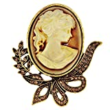 Lucky Jewellery Designer LCT Color Stone Queen Victoria Brooch for Men & Women (150-CHOS-LJ630-LCT)
