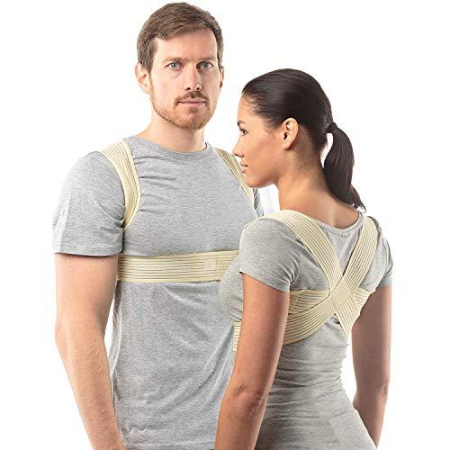 Haltungskorrektur Rücken Damen und Herren von aHeal | Geradehalter für eine gute Körperhaltung | Orthopädischer Geradehalter bei Skoliose und Kyphose | Linderung von Rückenschmerzen | Größe 1 Haut