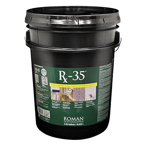 ROMAN PRO-999 Rx-35 Problem Solving Primer, Clear, 5 Gallon | 2,000 Sq. Ft.