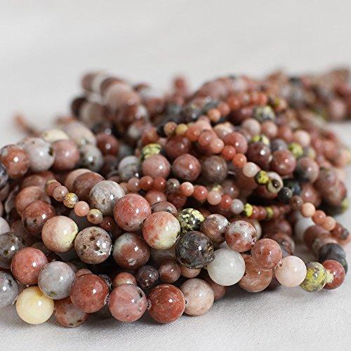 Haute qualité Grade A Fleurs de prune Rouge Naturel Jasper Pierre précieuse de pierres semi-précieuses Perles rondes – 4 mm, 6 mm, 8 mm, 10 mm Tailles – 39,4 cm Strand, approx 4mm (98-102 beads)