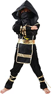 Kids Ninja Suit Role Play Costume Halloween Cosplay Party Dress Up Outfit Clothing Set for Boys Girls