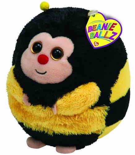 Ty 7138007 - Zips Ball Biene Stoffball Beanie Ballz, 12 cm