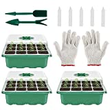 12 Hole Plant Seed Grow Box Nursery Seedling Starter Garden Yard Tray Insulation Tray