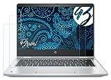 Bruni Schutzfolie kompatibel mit HP ProBook X360 435 G7 Folie, glasklare Bildschirmschutzfolie (2X)
