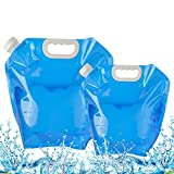AIBAOBAO Folding Water Container, 5L+10L Portable Drinking Water Container Tank, Folding Carrier Water Bag for Outdoor, Sport, Camping, Hiking, Car, Picnic, BBQ, Fishing, Gift