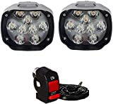 AutoPowerz (Love Enterprises) Imported 9 LED Fog Light for Cars and Bikes
