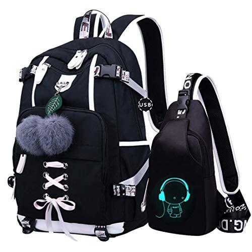 JUND Oxford-gewebe Schulrucksack für Jungen Schulrucksack Druck Rucksack Jugendlichen Schultasche Outdoor Reflektierender Daypack (blau1)