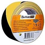 Tarifold 1 Cinta Adhesiva Suelo, Señalización, Seguridad, color Amarillo y Negro-Rollo 50mm x 33m, 50 mm x 33 M