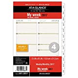Day Runner Weekly / Monthly Planner Refill 2017, 5-1/2 x 8-1/2', Size 4 (481-285Y)