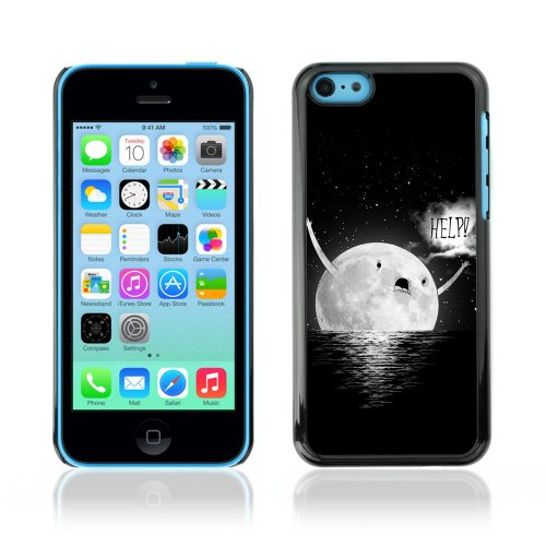 CelebrityCase Polycarbonate Hard Back Case Cover for Apple iPhone 5C ( Funny Moon MEME )