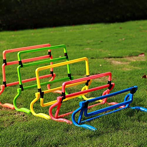 AYNEFY Trainingshürde, 5 Stück, Fußball-Training, Trainingshürden, für Erwachsene und Kinder, Orange