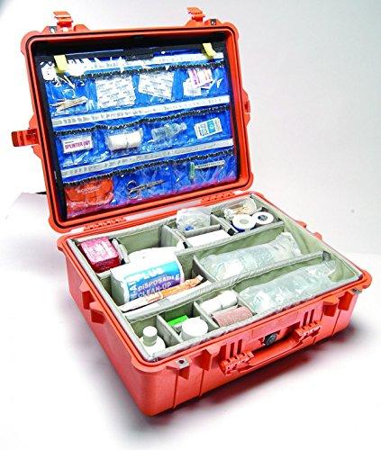 Peli 1605EMS Set de Accesorios para Servicios de emergencias (Organizador de Tapa y Set de divisores) Compatible con: Peli 1600EMS (se Vende por Separado), Color: Negro