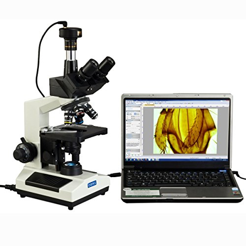 OMAX 40X-2000X Compound Trinocular Replaceable LED Microscope with 3MP USB Camera