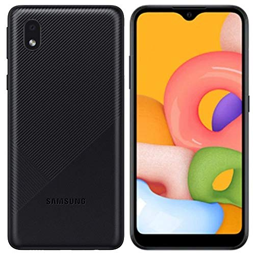 "Samsung Galaxy A01 Core (16GB, 1GB RAM) 5.3"", 3000mAh Battery, US & Global 4G LTE GSM Unlocked International Model - A013M/DS (Black)"