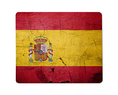 Yeuss Spaanse vlaggen Rechthoekige Niet-slip Mousepad Spanje vintage vlag, shabby vintage banner Gaming muismat 200mm x 240mm