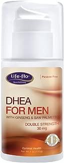 Life-flo DHEA Cream for Men | 30 mg Per Pump of Natural DHEA USP | 4 oz