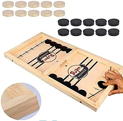 Fast Sling Puck Game Paced,Tinfence Table Desktop Battle,Winner Board Games Toys for Adults Parent-Child Interactive Chess Toy Board Table Game (22.7 in x 12.5 in) by Tinfence