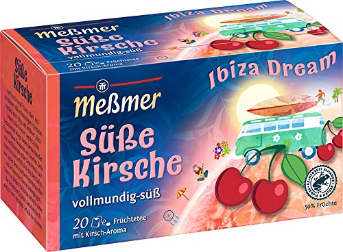 Meßmer Ibiza Dream | Süße Kirsche | 20 Teebeutel | Glutenfrei | Laktosefrei | Vegan, 50 g
