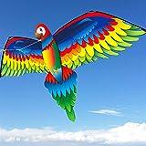 PANJAZE 3D Tridimensional Kite Phoenix, Cometas de fénix para Principiantes enormes con Cola Larga y Colorida, para niños Adultos Juegos al Aire Libre, Actividades, Viaje de Playa