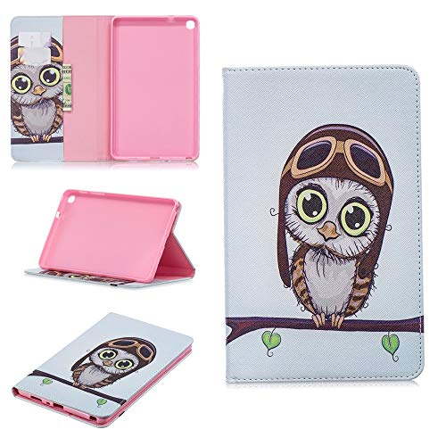 wangqianli For Galaxy Tab A 8.0 Inch 2019 SM-P200/SM-P205 Cute Panda Owl Butterfly Flower Design Tablet Stand Case With Card Slot (PATTERN : 7)