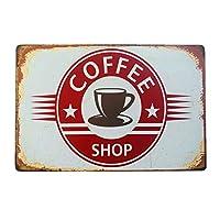 コーヒーショップメタルサイン家の装飾ブリキサイン壁画ARTカフェメタルデコレーション-20x30cm