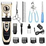 Ceenwes Dog Clippers Low Noise Pet Clippers Rechargeable Dog Trimmer Cordless Pet Grooming