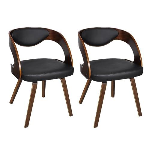 Sessel Stuhl Holz Leder Amazon De