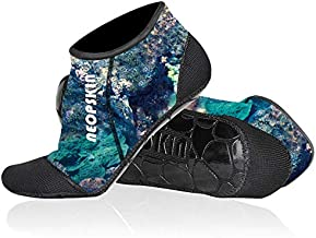 Neoprene Socks 3mm Beach Volleyball Sand Soccer Socks Water Booties Wet Shoes for Scuba Diving Swimming Surfing Snorkeling Fishing Wading Kayak (Camo-Low Cut, XS)