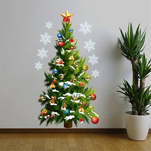 3D Wandtattoos Weihnachtsbaum, Kfnire Weihnachtsdekor DIY Wandbilder Wandaufkleber Wanddekoration Wohndeko Kinderzimmer Babyzimmer Wohnzimmer Wand Aufkleber (A)