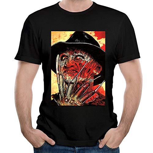 HAIZHENY Hombre Freddy Krueger Logo Cotton Camiseta/T-Shirt tee