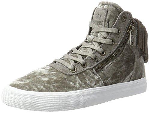 Supra Cuttler, Zapatillas Mujer, Gris (Grey/White), 37.5 EU