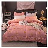 GELing Bettwäsche Set Polyester-Baumwolle Bettbezug-Set Einzelbett Doppelbett ,Farbe 10,150cm 3.5kg200cm 1.5kg