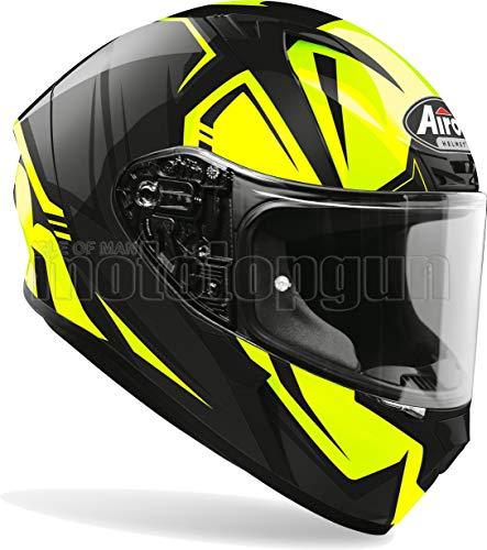 MOTOTOPGUN Airoh VAR31 Casco de moto integral amarillo brillante Valor