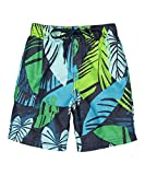 Kanu Surf Boys' Line Up Quick Dry UPF 50+ Beach Swim Trunk, Montego Navy, 2T