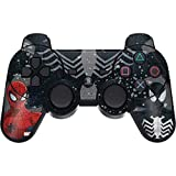 Skinit Decal Gaming Skin for PS3 Dual Shock Wireless Controller - Officially Licensed Marvel/Disney Red and Black Spider-Man Design