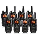Midland LXT600VP3 36 Channel FRS Two-Way Radio - Up to 30 Mile Range Walkie Talkie - Black (8 Pack)