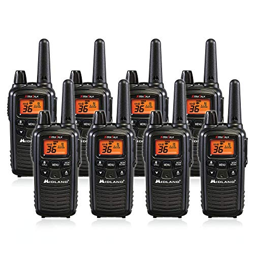 Midland LXT600VP3 36 Channel FRS Two-Way Radio - Up to 30 Mile Range Walkie Talkie - Black (LXT600VP3 (8 Pack)). Buy it now for 209.99