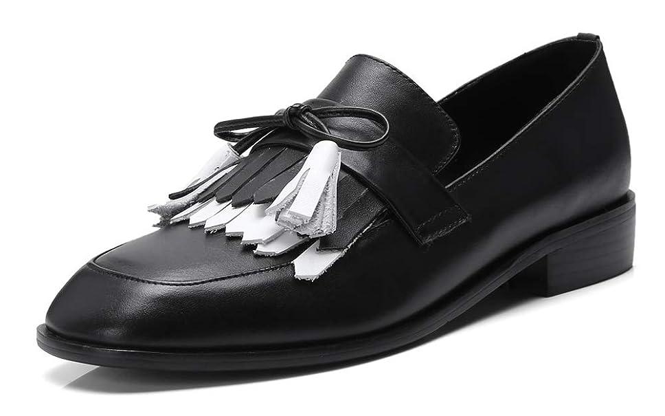 終了しました薬大邸宅[チカル] レディース ローファー フリンジ タッセル ローファーシューズ 手造り モカシン パンプス ローヒール カジュアルシューズ 太ヒール おじ靴 牛革 柔らかレザー 本革 ぺたんこ靴 くつ 歩きやすい