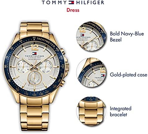 Tommy Hilfiger Men's 1791121 Sophisticated Sport Gold-Tone Stainless Steel Watch WeeklyReviewer