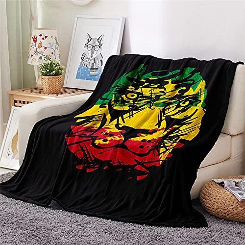 Mantas para Sofa Batamanta Mujer de Franela y Sherpa Manta Bebe Sofa Mantas con Estampados para la Cama y el Sofá 150x200 cm Tigre de Graffiti
