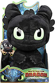 DREAMWORKS  Squeeze and Roar Toothless 11-Inch Plush with Sounds for Kids Aged 4 and Up