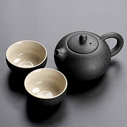 Juegos de té Vajilla Negra Tetera De Cerámica Taza De Té Juegos De Té Chinos De Kung Fu Drinkware