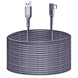 Compatible for Oculus Quest 2 Link Cable 20FT, Kuject Nylon Braided USB 3.0 Type A to C 5Gbps VR Headset Charging Cable for Oculus Quest 2/1, High Speed Data Transfer for Gaming PC