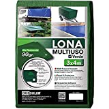 Criscolor 410655, Lona multiuso Polietileno, 3x4m